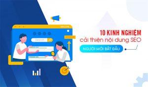 10 kinh nghiệm cải thiện nội dung SEO cho người mới bắt đầu