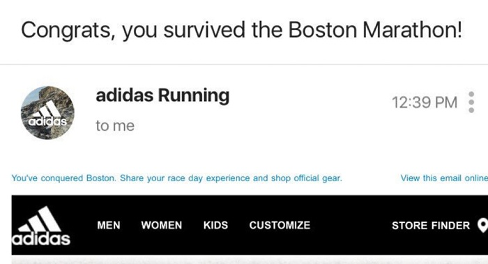 Chiến dịch email của Adidas