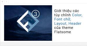 Giới thiệu các tùy chỉnh Color, Font chữ, Layout, Header của theme Flatsome 2